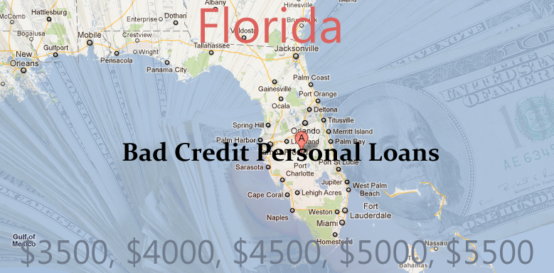 bad credit personal loans florida $1000   $10000 Dollar Bad Credit Personal Loans in HI, FLA, LA, GU