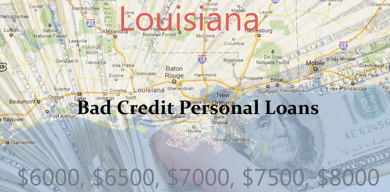 bad credit personal loans louisiana $1000   $10000 Dollar Bad Credit Personal Loans in HI, FLA, LA, GU
